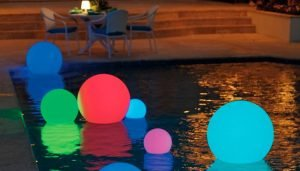 floating fluorescent orbs