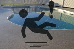 slippery pool deck