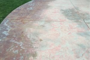 pool deck discoloration