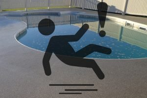 slippery pool deck